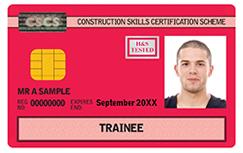 Trainee CSCS card