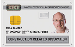 construction related occupation cscs card