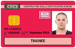 CSCS Trainee Card CSCS Red Card
