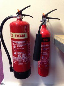 Cream Fire Extinguisher