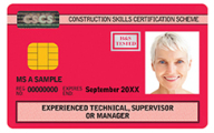 Experienced Technical, Supervisor or Manager CSCS Card