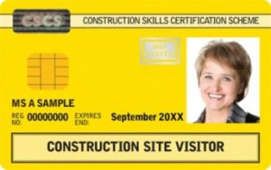 Construction Site Visitor CSCS Card