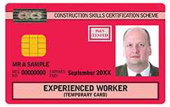 Experienced worker CSCS Card