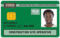 Construction Site Operative CSCS Card