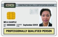 Professionally Qualified Person CSCS Card