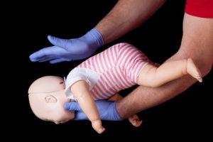 Choking baby first aid