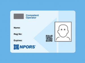 Blue Competent Operator Card